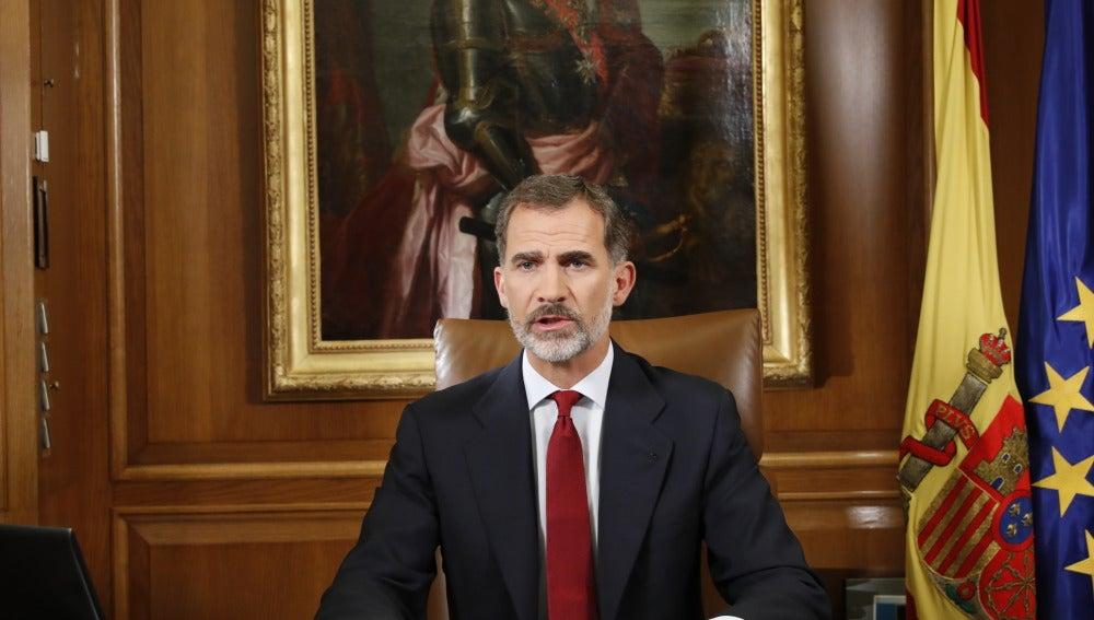 El Rey Felipe VI en su discurso ante la situación en Cataluña