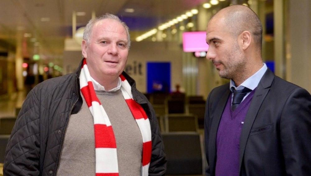 Guardiola se reúne con Hoeness en Múnich