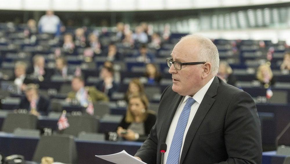 El vicepresidente primero de la Comisión Europea, Frans Timmermans