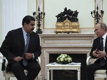 El presidente venezolano, Nicolás Maduro, durante su reunión en el Kremlin de Moscú (Rusia)