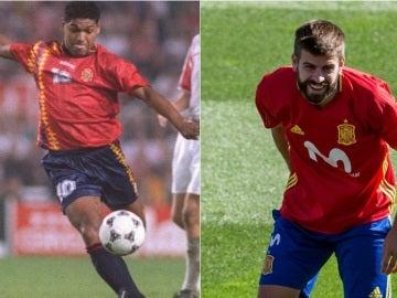 Donato y Piqué, con la Selección