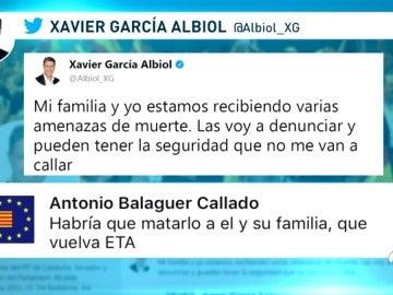 Amenaza en Twitter a Albiol
