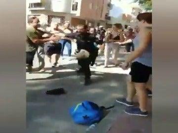 Batalla campal por las obras del Ave en Murcia