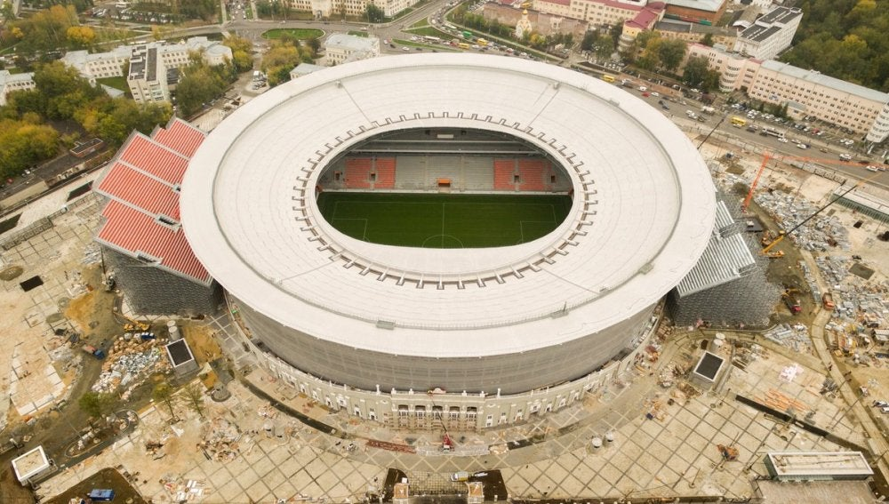 El Ekaterinburgo Arena, una de los estadios más 'raros' del Mundial