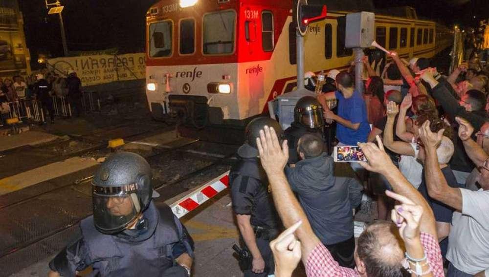 Protesta por ciudadanos en Murcia