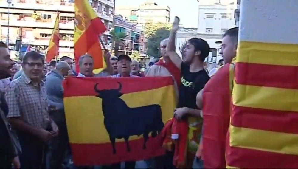 Manifestación en Cerdanyola a favor de la unidad de España