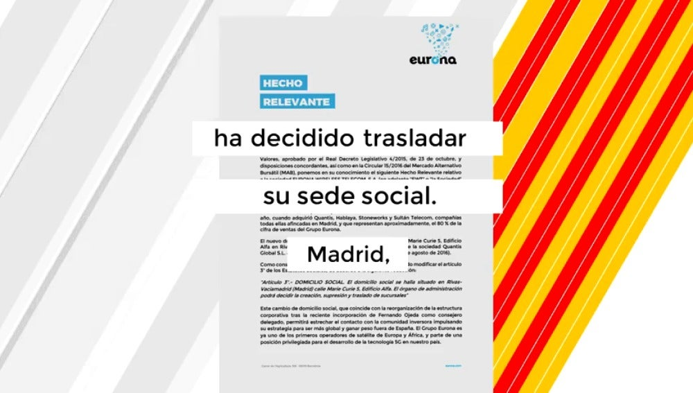 Empresas que están pensando abandonar Cataluña por la situación actual