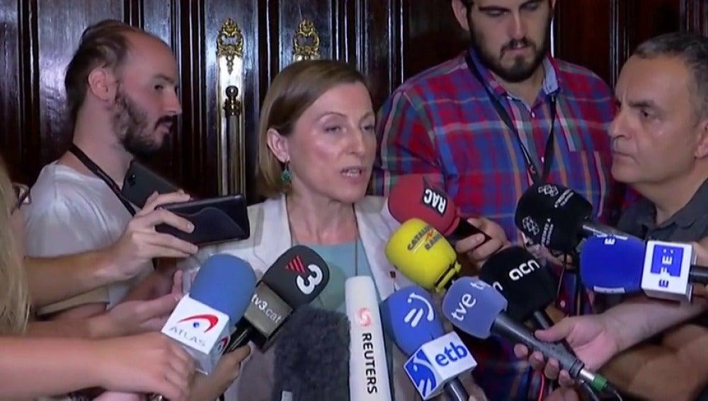 """Forcadell critica la decisión del TC: """"Suspender plenos que no están convocados es la nueva oferta de diálogo"""""""