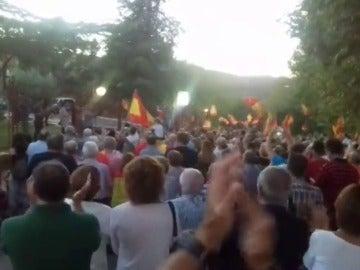 Calurosa acogida en Huesca a 50 policías procedentes de Cataluña