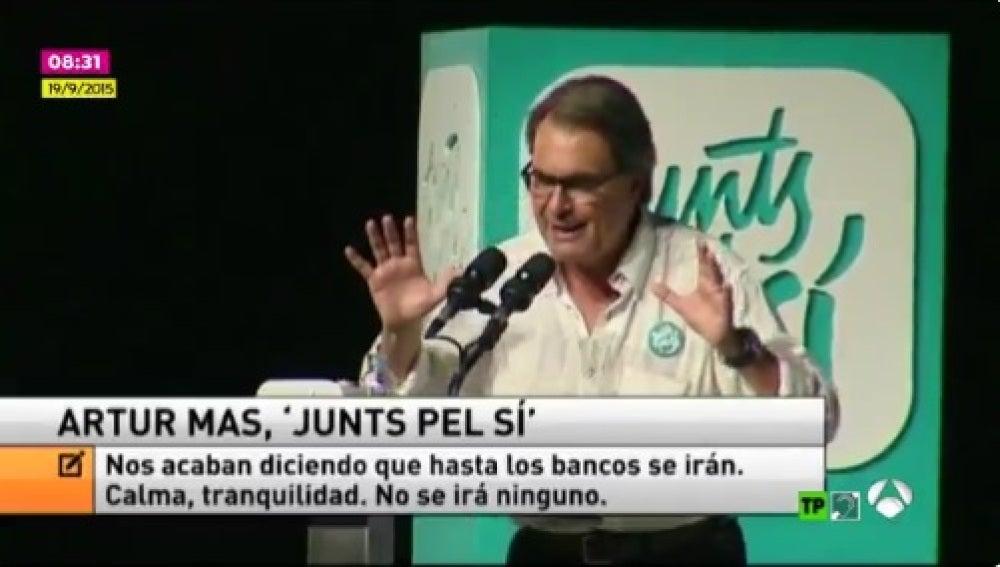 Artur Mas en un acto de Junts pel Sí en 2015
