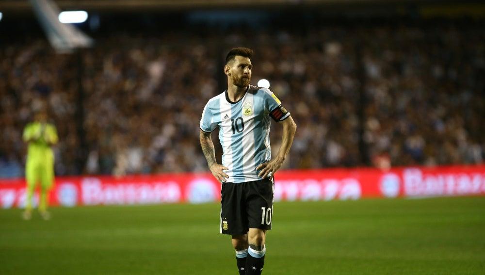 Leo Messi, durante el Argentina - Perú