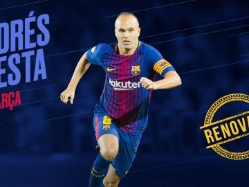Iniesta renueva con el Barcelona