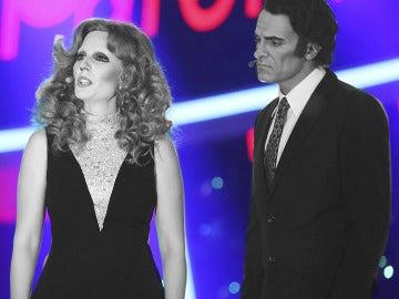 Diana Navarro y Luis Larrodera sorprenden con 'Parole, parole' como Mina y Alberto Lupo