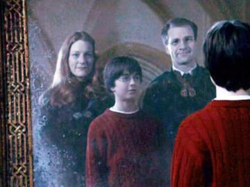 Harry Potter con sus padres