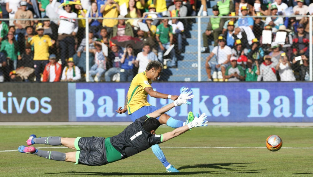 Neymar, ante Bolivia