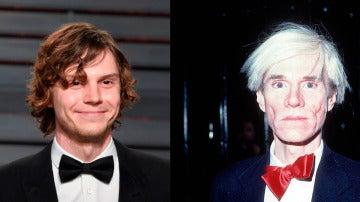 Evan Peters sorprende con su caracterización de Andy Warhol
