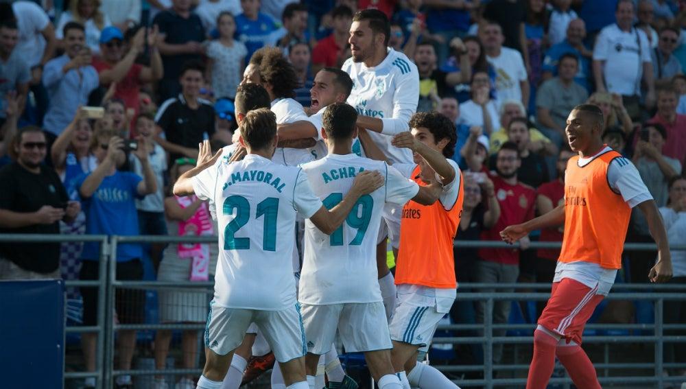 El Real Madrid celebra una victoria
