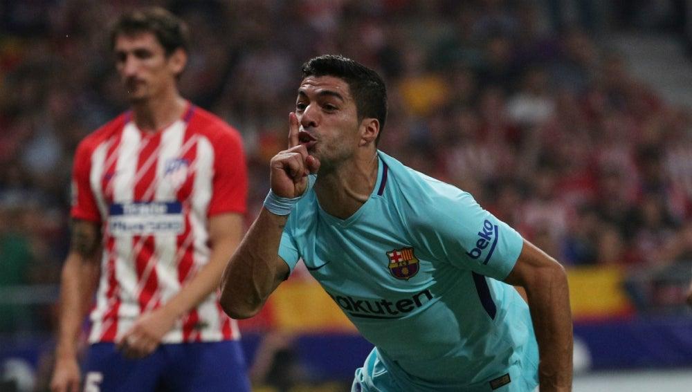 Suárez manda callar al Metropolitano