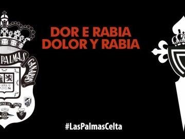 Las Palmas y Celta rinden homenaje a las víctimas de los incendios