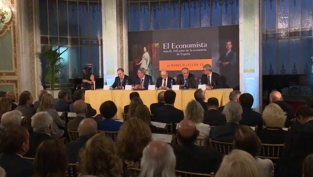 """Javier Morillas presenta  """"El economista, más de 160 años de la economía española"""""""