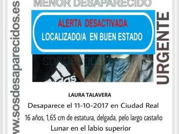 Localizada en Madrid la menor de 16 años desaparecida en Ciudad Real
