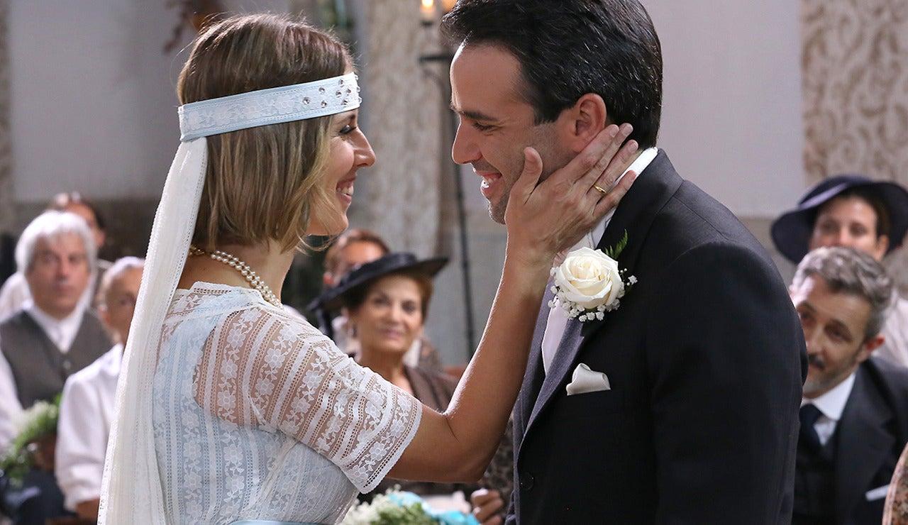El 'sí, quiero' más romántico y esperado entre Adela y Carmelo