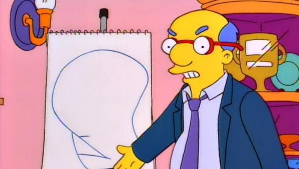 """El padre de Milhouse dibuja la """"dignidad"""""""