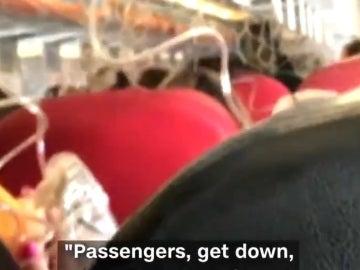 Momentos de pánico en pleno vuelo