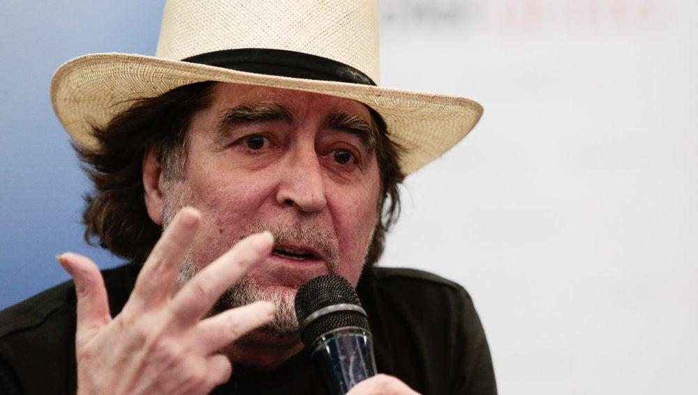 Joaquín Sabina durante una rueda de prensa
