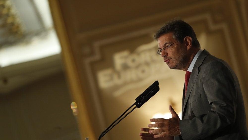 El ministro de Justicia, Rafael Catalá, durante su intervención