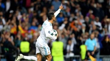 Cristiano Ronaldo celebra el 1-1 ante el Tottenham
