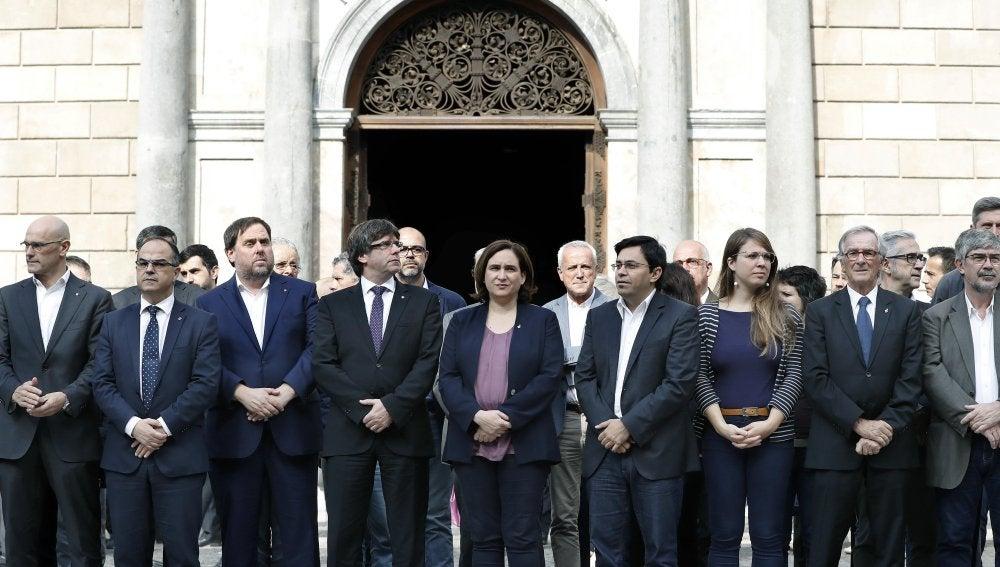 Concentración contra las detenciones de Jordi Sànchez y Jordi Cuixart