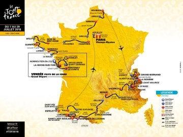 Recorrido Tour de Francia 2018