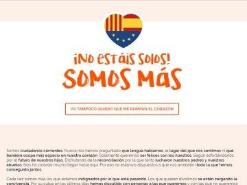 'No estáis solos, somos más', la web que lanza Ciudadanos