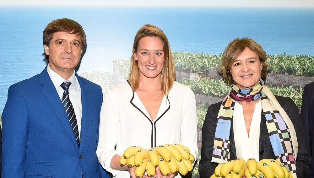 Mireia Belmonte, en la inauguración del estand de Plátano de Canarias