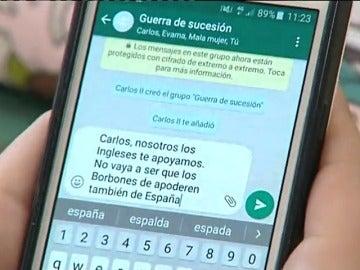Enseñando historia con Whatsapp