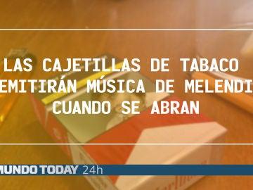Las cajetillas de tabaco emitirán música de Melendi cuando se abran