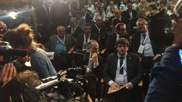 Carles Puigdemont, en la reunión del Consejo Nacional de PdeCAT
