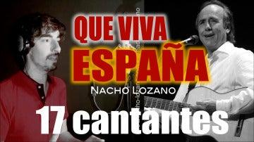 Nacho Lozano, exconcursante de 'Tu cara no me suena todavía', nos sorprende interpretando 'Qué viva España' a 17 voces