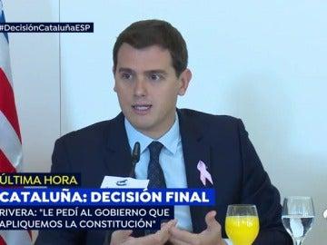 """Albert Rivera: """"Un Estado de Derecho no puede aceptar chantajes"""""""