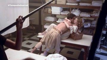 Así fue el rodaje de la escena más pasional de 'Tiempos de guerra'