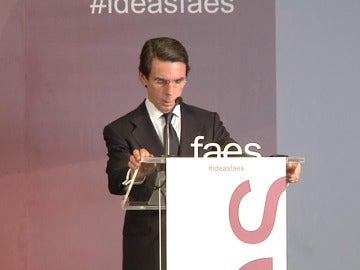 """Aznar: """"La reforma constitucional no debe ser el pago a plazos de lo que ahora no estamos dispuestos a pagar al secesionismo"""""""""""