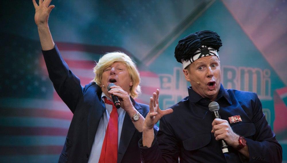Los Morancos se transforman en Kim Jong-un y Donald Trump para estrenar, en exclusiva, su nuevo single en 'El Hormiguero 3.0'