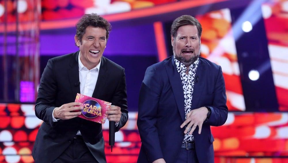 Mario Vaquerizo, Karlos Arguiñano y 'Los Simpson' aparecen en 'Tu cara me suena' de la 'voz' de Raúl Pérez y Carlos Latre