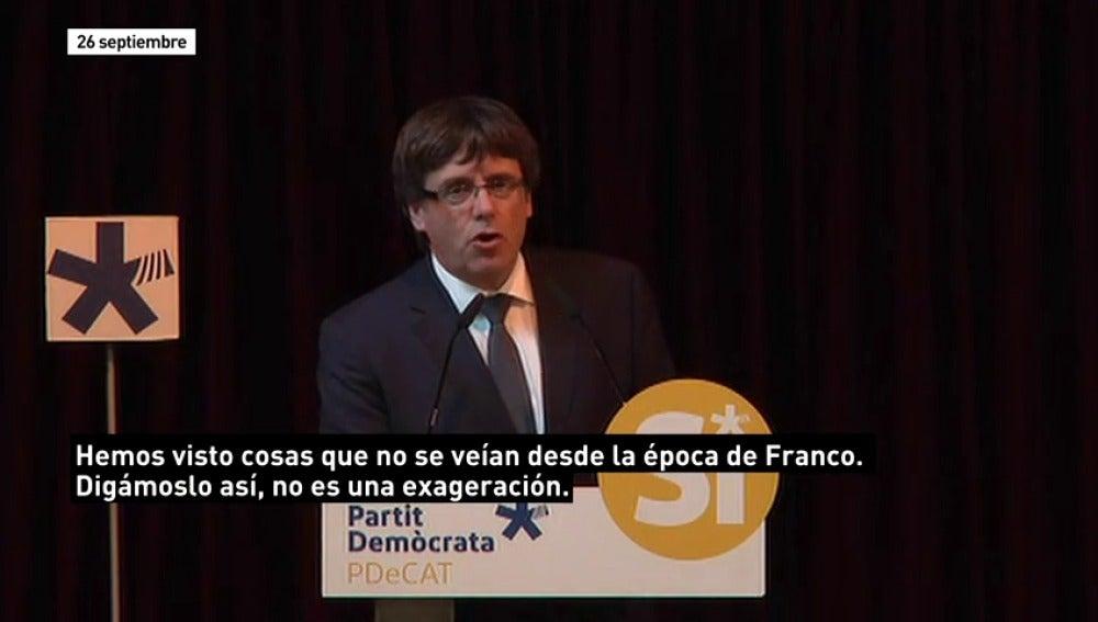 """Los políticos """"recuperan"""" a Franco por la crisis de Cataluña"""
