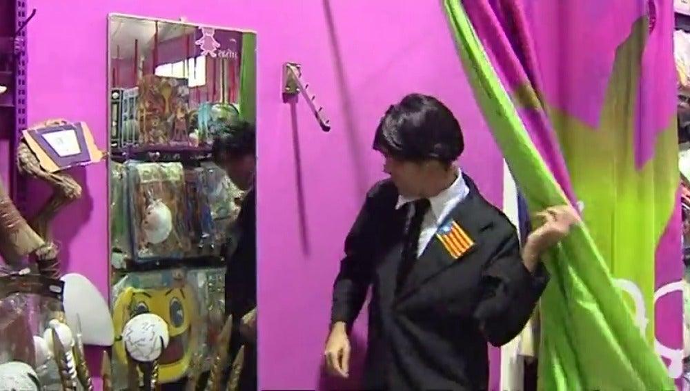 El disfraz de Puigdemont triunfa en Halloween