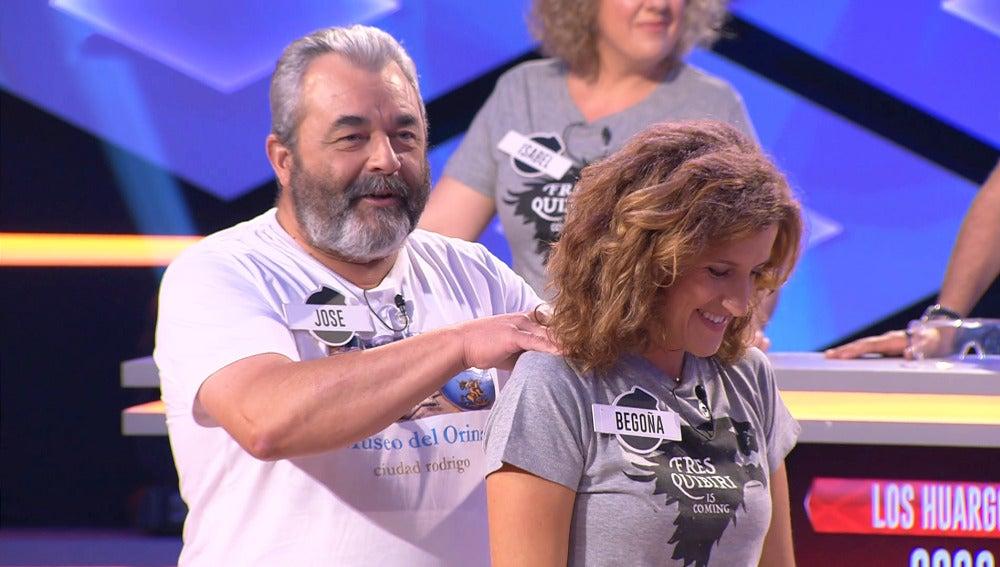 El 'lobo' Jose demuestra sus dotes de masajista en '¡Boom!'