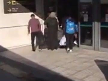 Un grupo de refugiados llega a España
