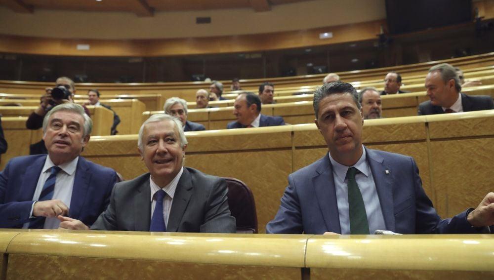 Los senadores del Grupo Popular