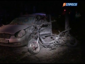 Atacan con una moto bomba a un lider de la oposición en Kiev, en Ucrania